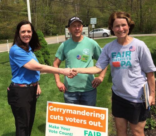 Luzerne County volunteers with Sen. Baker